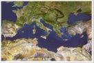 Středozemní moře - satelitní - nástěnná mapa