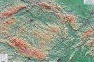 Česká republika - reliéfní nástěnná mapa - 1:500 000