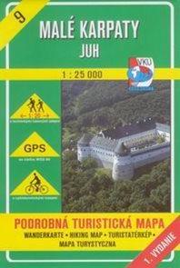 Malé Karpaty - jih - mapa VKÚ č.9 - 1:25 000 /Slovensko/