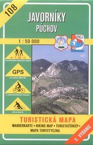 Javorníky, Púchov - mapa VKÚ č.108 -1:50 000 /Slovensko/