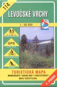 Levočské vrchy - mapa VKÚ č.114 - 1:50 000 /Slovensko/