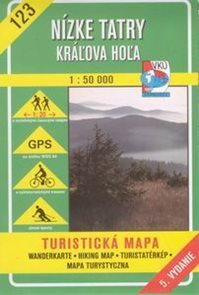 Nízké Tatry - Králova Hola - mapa VKÚ č.123 - 1:50 000 /Slovensko/