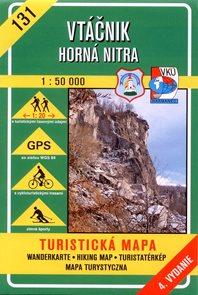 Vtáčník, Horná Nitra - mapa VKÚ č.131 - 1:50 000 /Slovensko/