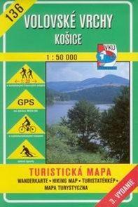 Volovské vrchy, Košice - mapa VKÚ  č.136 - 1:50 000 /Slovensko/