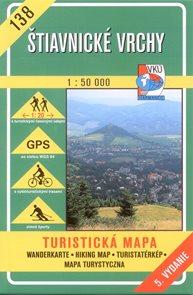 Štiavnické vrchy - mapa VKÚ č.138 - 1:50 000 /Slovensko/