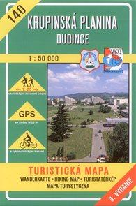 Krupinská planina, Dudince - mapa VKÚ  č. 140 - 1:50 000 /Slovensko/