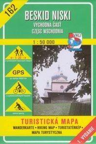 Beskid Niski - východ - mapa VKÚ č.162 - 1:50 000 /Slovensko,Polsko/