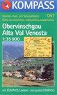 Obervinschgau, Alta Val Venosta - mapa Kompass - 1:35t /Itálie,Rakousko,Chorvatsko/