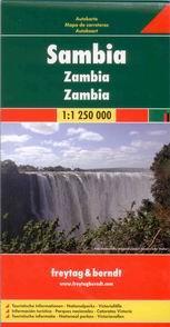Zambie - mapa Freytag - 1:1 250 000