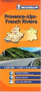 Francie - Provence, French Riviera - mapa Michelin č.527 - 1:200 000