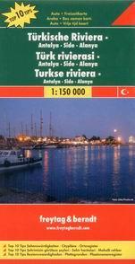 Turecko - riviéra -východ- mapa Freytag - 1:150 000