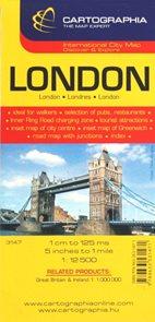 Londýn - plán města CB 1:12 000