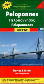 Řecko - Peloponnés - mapa Freytag - 1:150 000