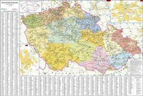 Česká republika - železniční - 1:500 000 - nástěnná mapa /ZES/