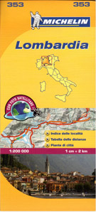 Itálie - Lombardie - mapa Michelin č.353 - 1:200 000