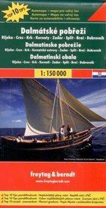 Chorvatsko - Dalmátské pobřeží - mapa Freytag - 1:150 000