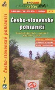 Česko-slovenské pohraničí - dálková cyklotrasa - cykloprůvodce Shocart - 1:80 000
