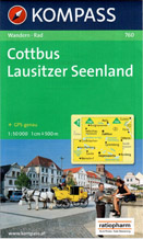 Cottbus, Lausitzer Seenland - mapa Kompass č.760  - 1:50t /Německo/