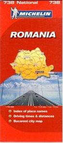 Rumunsko - mapa Michelin č.738 - 1:750 00
