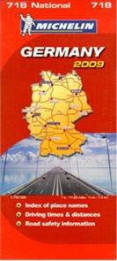 Německo - mapa Michelin č.718 - 1:750 000