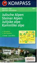 Slovinsko - Julské Alpy, Steiner Alpen, Kamniške Alpe - mapa Kompass č.2801 - 1:75 000