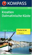 Chorvatsko - Dalmácie - mapy Kompass č.2900 - 1:100 000