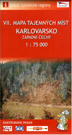 Mapa tajemných míst -7- Karlovarsko, západní Čechy - 1:75 000