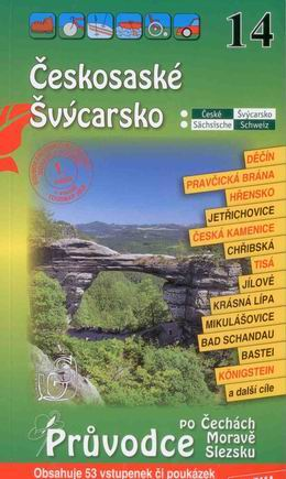 Českosaské Švýcarsko - průvodce Soukup-David č.14 /+volné vstupenky/ - Soukup V., David P. - 110x196mm, paperback