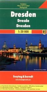Dresden /Drážďany/ - plán Freytag - 1:20 000 /Německo/