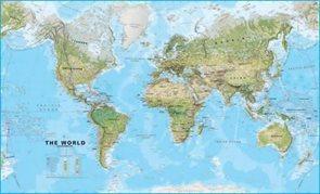 Svět - obecně zeměpisný - 1:30 000 000 - nástěnná mapa