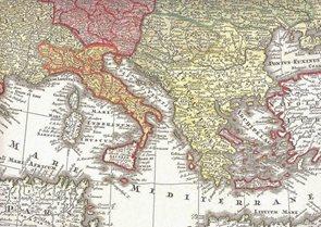 Historická Evropa r.1729 - nástěnná mapa