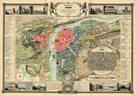 Historická Praha -Prag - r.1847 - nástěnná mapa