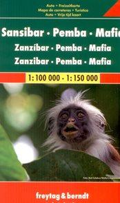 Zanzibar, Pemba, Mafia - mapa Freytag - 1:100 000/150 000 /Tanzánie/