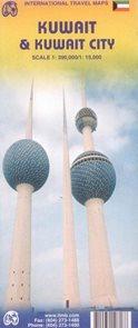 Kuwait - mapa ITM - 1:390 000 + Kuwait City - 1:15 000