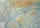 Kraj - Karlovarský - reliéfní nástěnná mapa - 1: 100 000