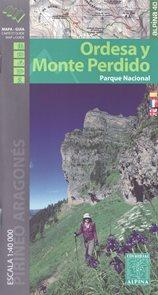 Španělsko - NP Ordesa, Monte Perdido - mapa Alpina - 1:40 000