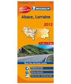 Francie - Alsace, Lorraine - mapa Michelin č.516 - 1:200 000