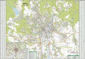 Brno - 1:17 500 - nástěnná mapa