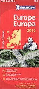 Evropa - mapa Michelin č.705 - 1:3 000 000
