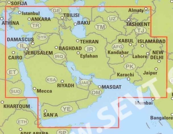 Mapa Mapa Blizkeho Vychodu