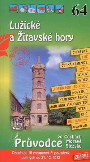 Lužické a Žitavské hory - průvodce Soukup-David č.64 /+volné vstupenky/ - 111x196mm, paperback, křídový papír
