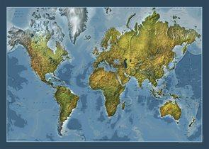 Svět - obecně zeměpisný-oboustranný - nástěnná mapa /ZES/