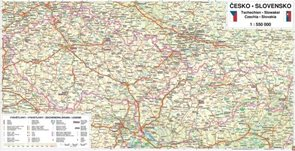 Česká a Slovenská republika - 1:550 000 - nástěnná mapa /Freytag/