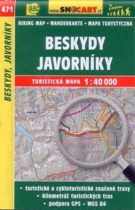 Beskydy, Javorníky - mapa SHOCart č.471 - 1:40 000