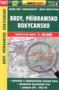 Brdy, Příbramsko, Rokycansko - mapa SHOCart č.417 - 1:40 000