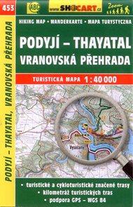Podyjí - Thayatal, Vranovská přehrada - mapa SHOCart č.453 - 1:40 000