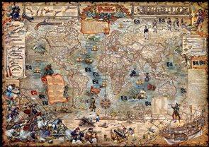 Mapa světa pro děti Piráti -  The Age of Pirates