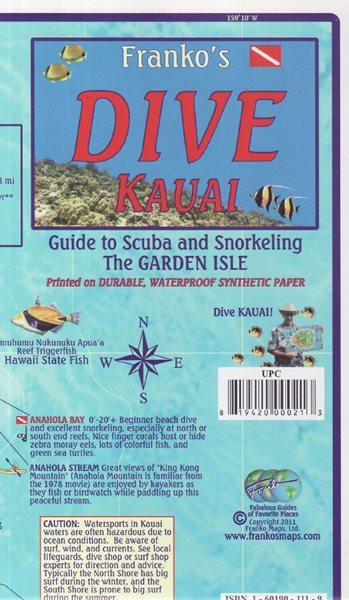 Kauai Dive Franko´s map - 18x11