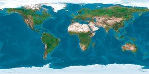 Stolní laminovaná mapa Satelitní svět