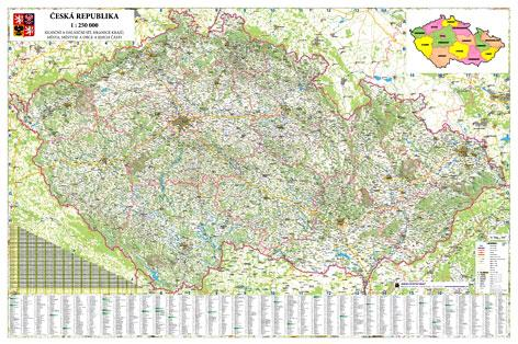 Obri Nastenna Mapa Ceska Republika 250 Sevt Cz
